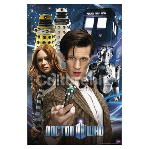 Doctor Who Eleventh Doctor Collage Standard Poster