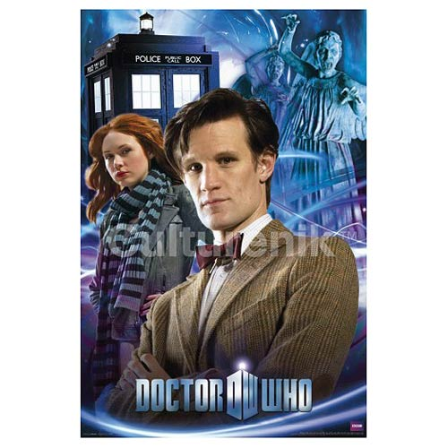 Doctor Who Eleventh Doctor and Amy Pond Standard Poster