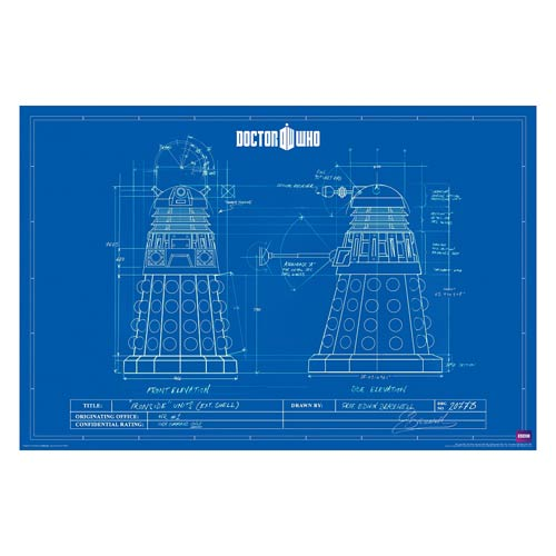 Doctor Who Dalek Blueprint Standard Poster