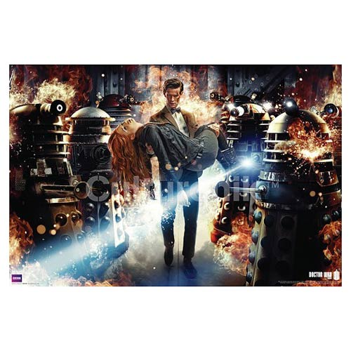 Doctor Who Eleventh Doctor Flames Standard Poster