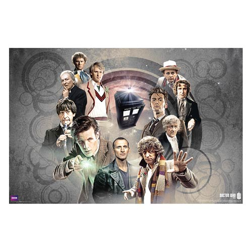 Doctor Who Doctors Collage Standard Poster