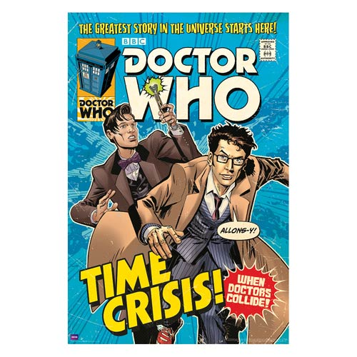 Doctor Who Time Crisis Comic Book Cover Poster