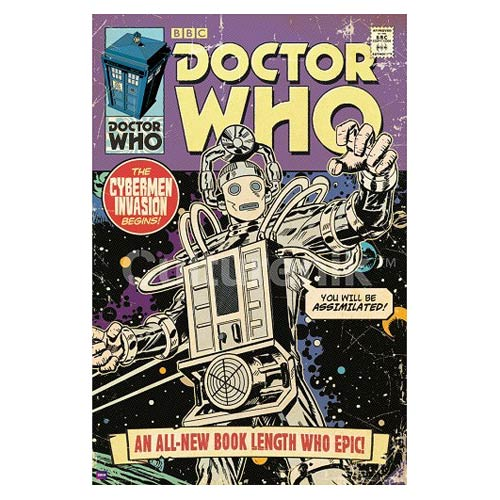 Doctor Who Cybermen Invasion Comic Book Cover Poster