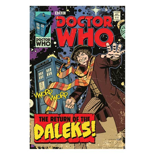 Doctor Who Return of Daleks Comic Book Cover Poster