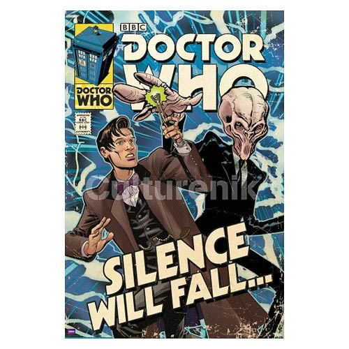 Doctor Who Silence Will Fall Comic Book Cover Poster