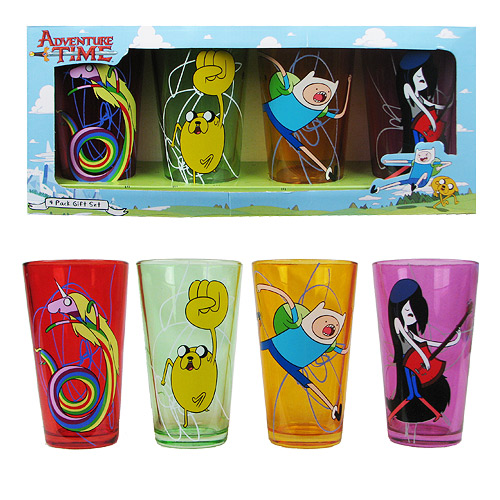 Adventure Time Characters Pint Glass 4-Pack