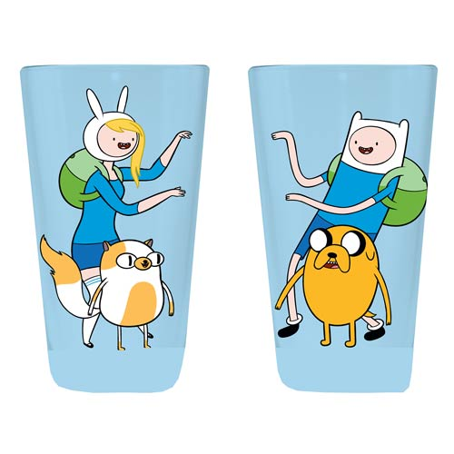 Adventure Time with Finn and Jake Cake and Fionna Pint Glass