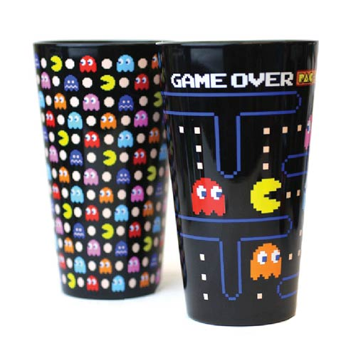 Pac-Man Black Pint Glass 2-Pack