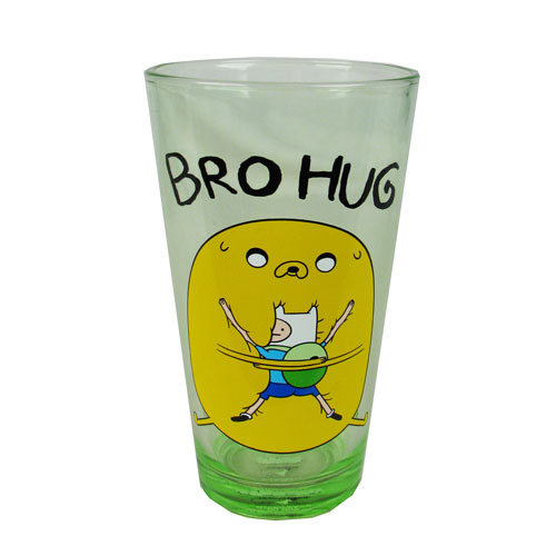 Adventure Time Finn and Jake Bro Hug Pint Glass