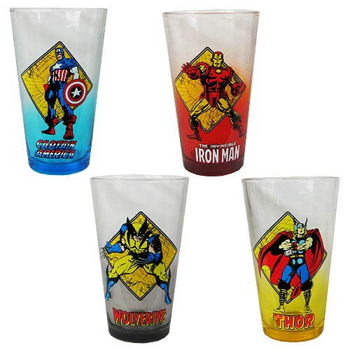 Marvel Pint Glass 4-Pack