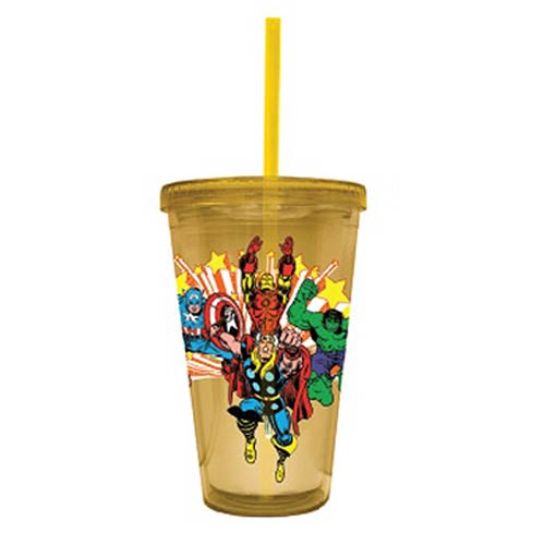 Marvel Classic Superheroes Acrylic Travel Cup