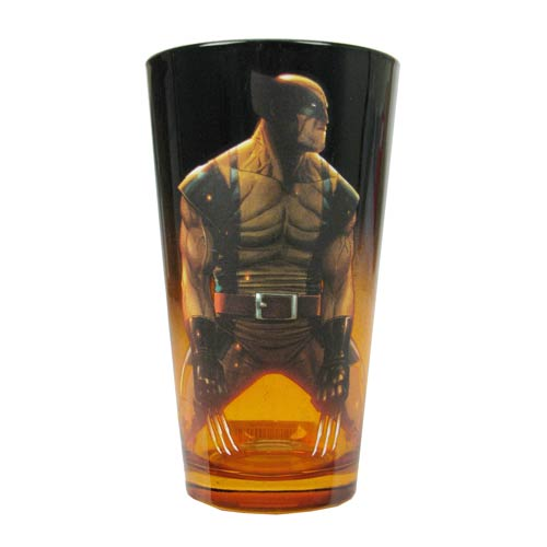 Wolverine Grim Marvel Pint Glass