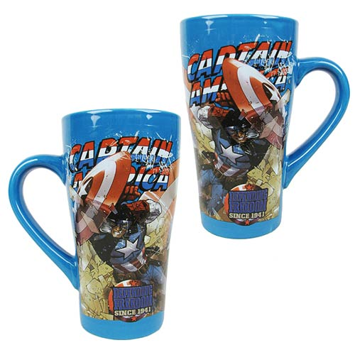 Captain America 16 oz. Fluted Ceramic Mug