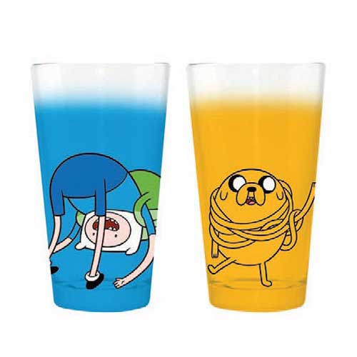 Adventure Time Jake Wrap and Finn Roll Pint Glass 2-Pack