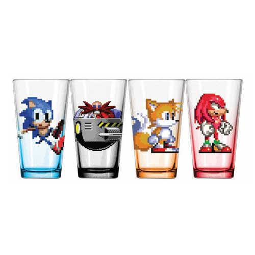 Sonic the Hedgehog 16-Bit Characters Pint Glass 4-Pack