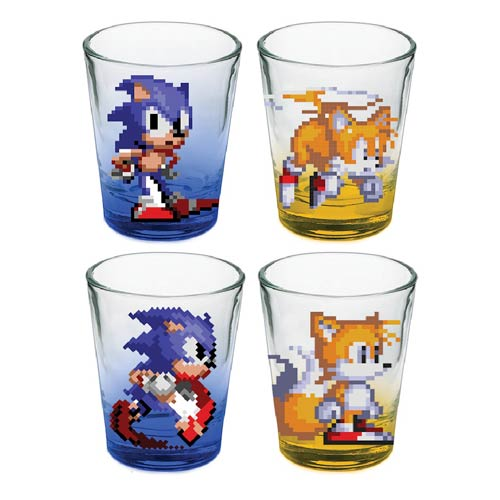 Sonic the Hedgehog 16-Bit Shot Glass 4-Pack