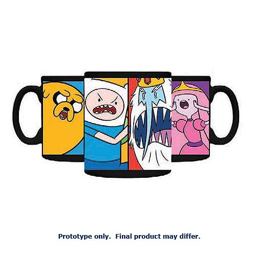 Adventure Time 4 Characters Panel 11 oz. Ceramic Mug