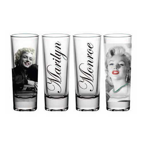 Marilyn Monroe Shot Glass 4-Pack