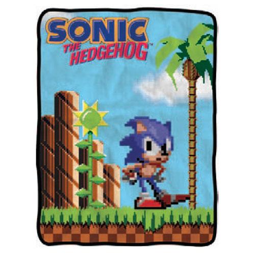Sonic the Hedgehog 16 Bit Fleece Throw Blanket
