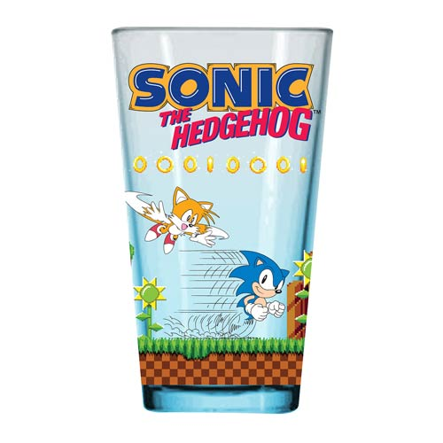 Sonic the Hedgehog Game Board Pint Glass