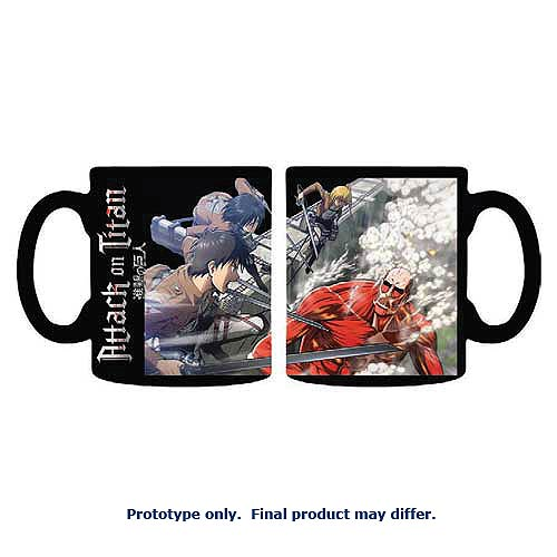 Attack on Titan Scouts vs. Colossus Titan 11 oz. Ceramic Mug