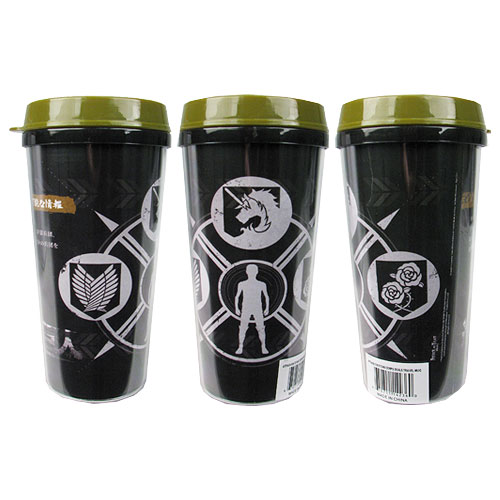 Attack on Titan Symbols 16 oz. Travel Mug