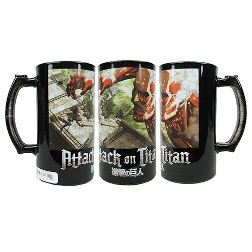 Attack on Titan Colossus Titan at the Wall 16 oz. Beer Mug