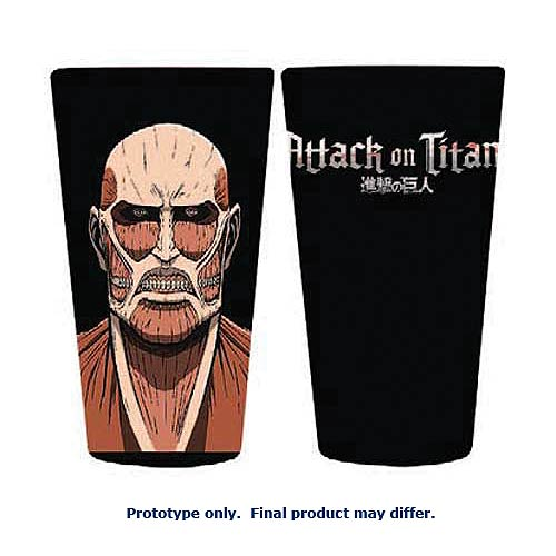 Attack on Titan Colossus Titan Black Pint Glass