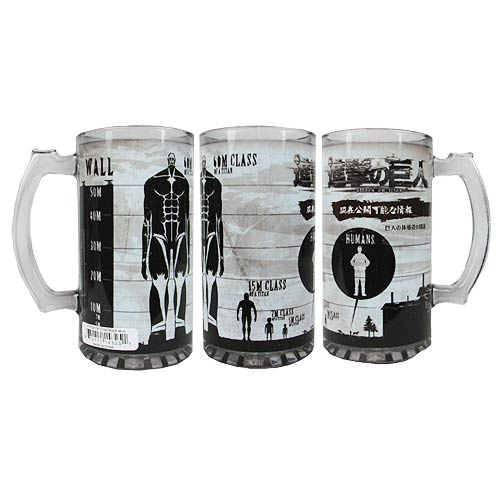 Attack on Titan Colossus Titan Stats 16 oz. Beer Mug