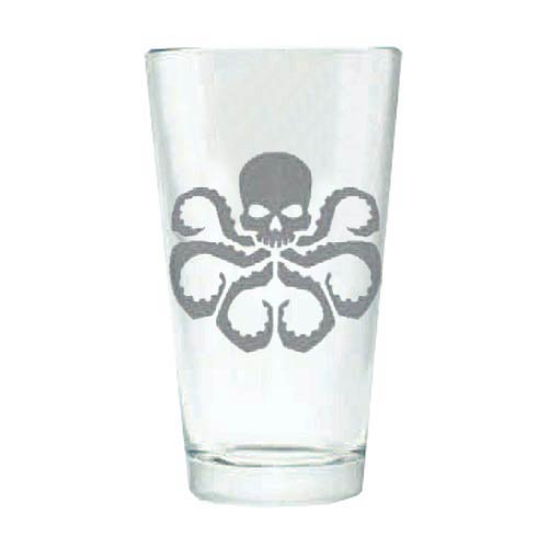 Marvel HYDRA Logo Silhouette Etched Pint Glass
