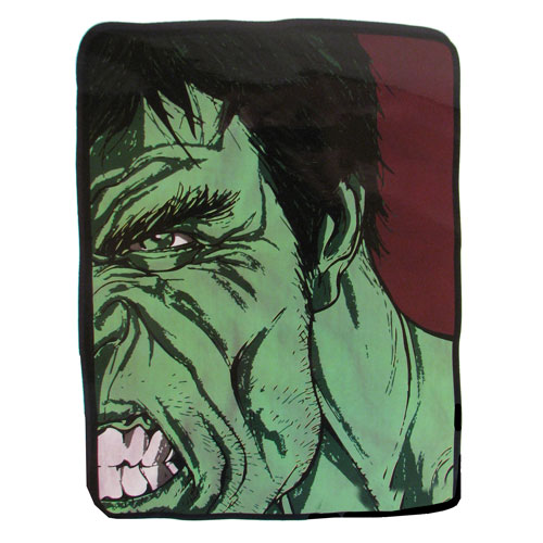 The Hulk Black and White and Green Fleece Throw Blanket