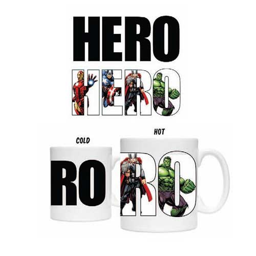Avengers Hero 20 oz. Heat Change Ceramic Mug