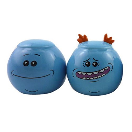 Rick and Morty Mr. Meeseeks Salt and Pepper Shaker Set