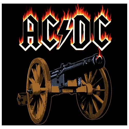 AC/DC Flaming Cannon Micro Raschel Fleece Blanket