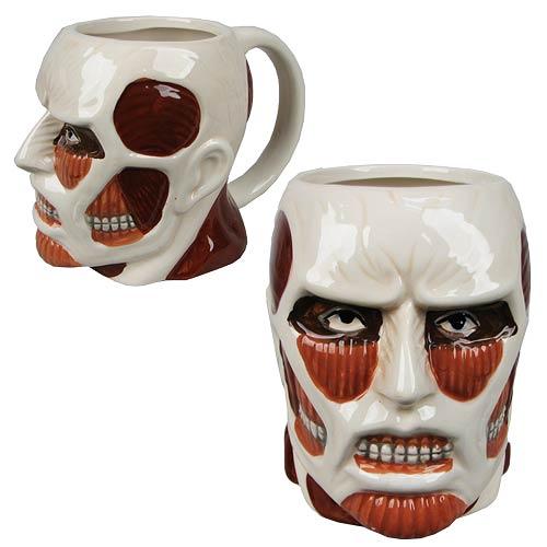 Attack on Titan Colossal Titan Face Molded 16 oz. Mug