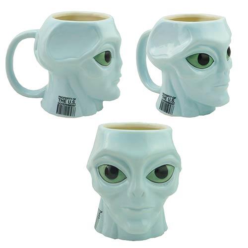 Blue Alien Molded 16 oz. Mug