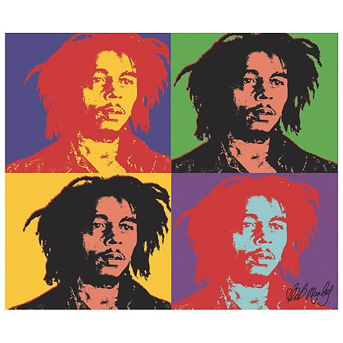 Bob Marley Pop Art Micro Raschel Fleece Blanket
