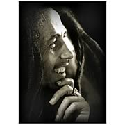 Bob Marley Hand on Chin Canvas Print