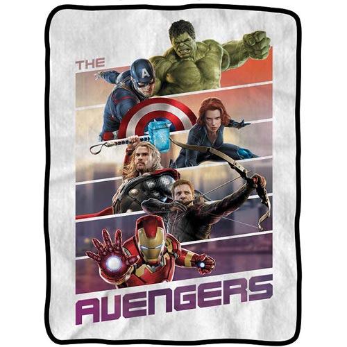 Avengers Panels Fleece Throw Blanket
