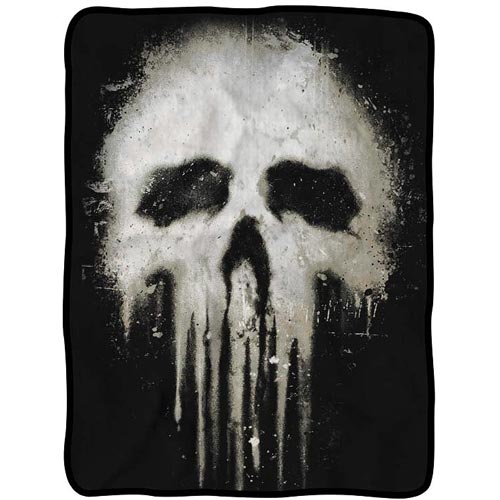 Punisher Skull Fleece Throw Blanket Surreal