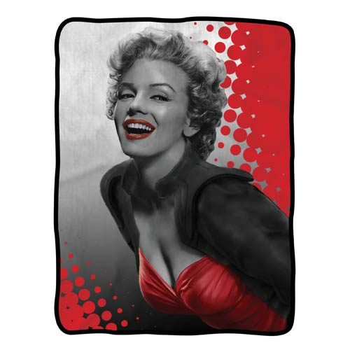 Marilyn Monroe Red Fleece Throw Blanket
