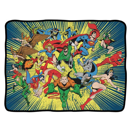 Justice League of America Burst Fleece Blanket