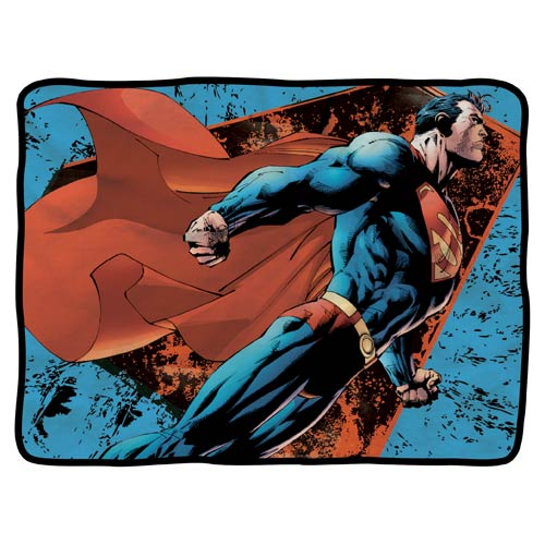 Superman Soaring Fleece Blanket