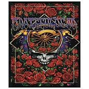 Grateful Dead Skull with Roses Micro Raschel Fleece Blanket
