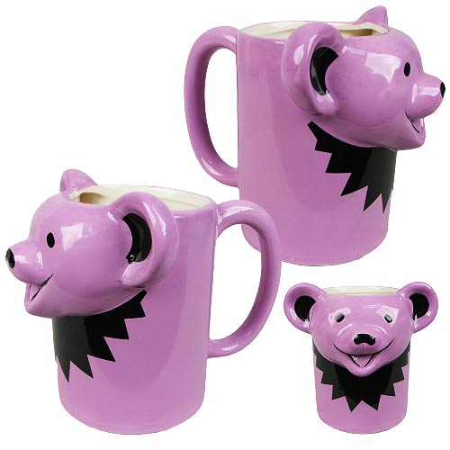 Grateful Dead Purple Dancing Bear Face Molded 16 oz. Mug