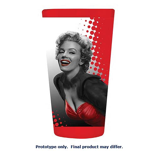 Marilyn Monroe Red Dress 16 oz. Pint Glass