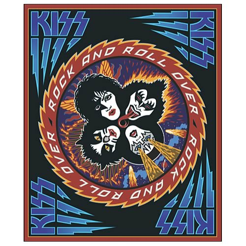 KISS Rock and Roll Over Micro Raschel Fleece Blanket