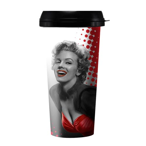 Marilyn Monroe Red Dress 16 oz. Travel Mug