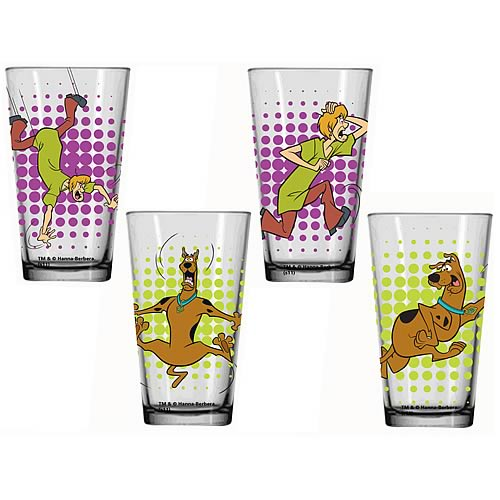 Scooby-Doo Glass Tumbler 4-Pack