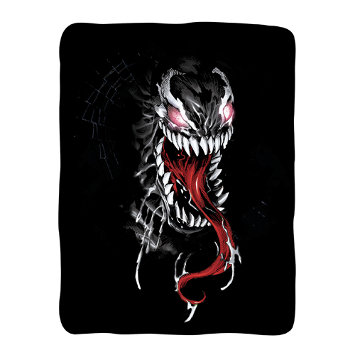 Spider-Man Venom Fleece Throw Blanket